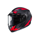 Flat Black/Gray/Red CS-R3 Treague MC-1F Snow Helmet w/Framed Dual Lens Shield