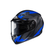 Flat Black/Gray/Blue CS-R3 Treague MC-2F Snow Helmet w/Framed Dual Lens Shield