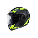 Flat Black/Gray/Hi-Viz Flat CS-R3 Treague MC-3HF Snow Helmet w/Framed Dual Lens Shield