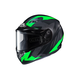 Flat Black/Gray/Green CS-R3 Treague MC-4F Snow Helmet w/Framed Dual Lens Shield