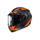 Flat Black/Gray/Neon Orange CS-R3 Treague MC-6HF Snow Helmet w/Framed Dual Lens Shield