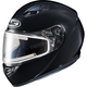 Black CS-R3 Snow Helmet w/Framed Electric Shield
