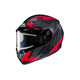 Flat Black/Gray/Red CS-R3 Treague MC-1F Snow Helmet w/Framed Electric Shield