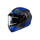 Flat Black/Gray/Blue CS-R3 Treague MC-2F Snow Helmet w/Framed Electric Shield