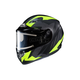 Flat Black/Gray/Hi-Viz Neon Green CS-R3 Treague MC-3HF Snow Helmet w/Framed Electric Shield