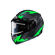 Flat Black/Gray/Green CS-R3 Treague MC-4F Snow Helmet w/Framed Electric Shield