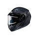 Flat Black/Gray CS-R3 Treague MC-5F Snow Helmet w/Framed Electric Shield