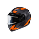 Flat Black/Gray/Neon Orange CS-R3 Treague MC-6F Snow Helmet w/Framed Electric Shield