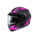 Flat Black/Gray/Pink CS-R3 Treague MC-8F Snow Helmet w/Framed Electric Shield