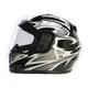 Black/Silver Full Face Helmet