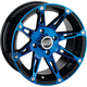 Rear Blue/Black 387X 12x8 Wheel - 0230-0804