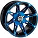 Blue Front 387X 12x7 Wheel - 0230-0805