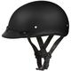 Matte Black Skull Cap Half Helmet w/Visor