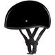 Hi-Gloss Black Skull Cap Half Helmet