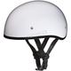 Hi-Gloss White Skull Cap Half Helmet