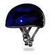 Blue Flames Skull Cap Half Helmet