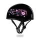 Flowers Skull Cap Half Helmet