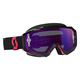 Black/Fluorescent Pink Hustle MX Goggles w/Purple Chrome Lens - 246430-5403281