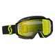 Black Fluorescent Yellow Hustle MX Goggles w/Yellow Chrome Lens - 246430-5405289