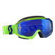 Green/Blue Hustle MX Goggles w/Blue Chrome Lens - 246430-2278278