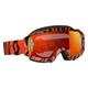 Black/Fluorescent Orange Hustle MX Goggles w/Orange Chrome Lens - 246430-5402280