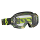 Gray/Fluorescent Yellow Hustle MX Goggles w/Clear Lens - 246430-5409113
