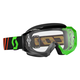 Black/Fluorescent Green Hustle MX Goggles w/Clear Lens - 246430-5401113
