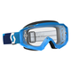 Blue Hustle MX Goggles w/Clear Lens - 246430-0003113