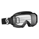 Black Hustle MX Goggles w/Clear Lens - 246430-0001113