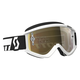 White Recoil XI Goggles w/Gold Chrome Lens - 246485-0002324