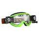 Black/Fluorescent Green Recoil XI WFS Goggles w/Clear Lens - 246486-5401113