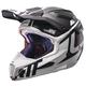 Black/White GPX 6.5 Carbon V16 Helmet