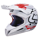 White/Red GPX 5.5 Composite V15 Helmet