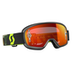Youth Gray/Fluorescent Yellow Buzz Goggles w/Orange Chrome Lens - 246435-5409280