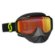 Black/ Fluorescent Yellow Hustle Snowcross Goggles w/Red Chrome Lens - 246439-5405310