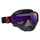Black/Fluorescent Pink Hustle Snowcross Goggles w/Purple Chrome Lens - 246439-5403316