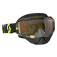 Gray/Fluorescent Yellow Hustle Snowcross Goggles w/Gold Chrome Lens - 246439-5409311