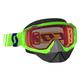 Green Hustle Snowcross Goggles w/Rose Lens - 246439-0006108