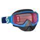 Blue Hustle Snowcross Goggles w/Rose Lens - 246439-0003108