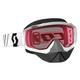 White Hustle Snowcross Goggles w/Rose Lens - 246439-0002108