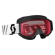 Youth Black 89Si Snowcross Goggles w/Rose Lens - 246441-0001108