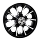 Rear Contrast Cut 18 x 5.5 Largo 3D Wheel for ABS - 3D-LGO185BC-ABS