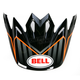 Orange/Black/White Moto-9 Visor - 8005610