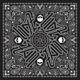 Black Paisley Deluxe Bandana - BD101