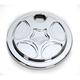 Chrome Spiro Series Fuel Door - SS-FD-C