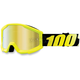 Strata Youth Goggles Neon Yellow w/Gold Mirror Lens - 50510-004-02