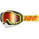 Yellow Racecraft Snow Goggle w/Mirror Red Lens - 50113-026-02