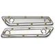 Chrome Bomber Series Saddlebag Hinge Covers - BBL-001-C