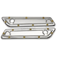 Chrome Bomber Series Saddlebag Latch Covers - BBL-002-C