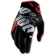 Black/Red Ridefit Gloves